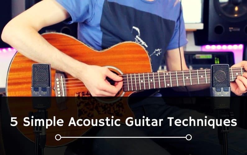 5 Simple Acoustic Guitar Techniques-min