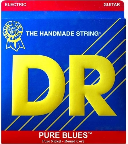 DR Strings Pure Blues Pure Nickel Wrap Round Core